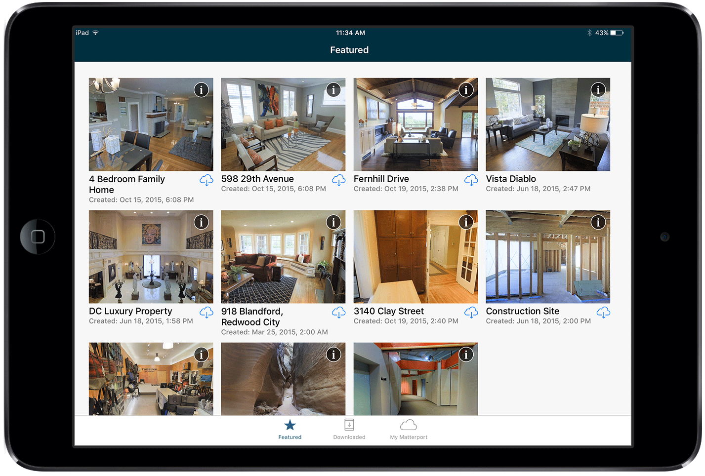 matterport showcase app ipad